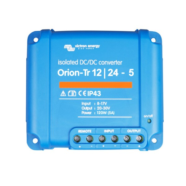 Victron Orion-Tr 12/24-5 DC-DC Converter isolated 12V to 24V 5A 120W