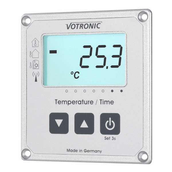 Votronic 1253 LCD-Thermometer / Uhr S Anzeige