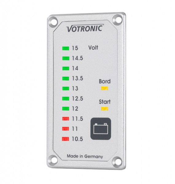 Votronic Duo Battery Tester, wallmounted