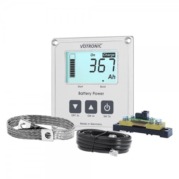 Votronic® LCD-Battery Computer 100S with Smart-Shunt and Ground Strap 25mm²